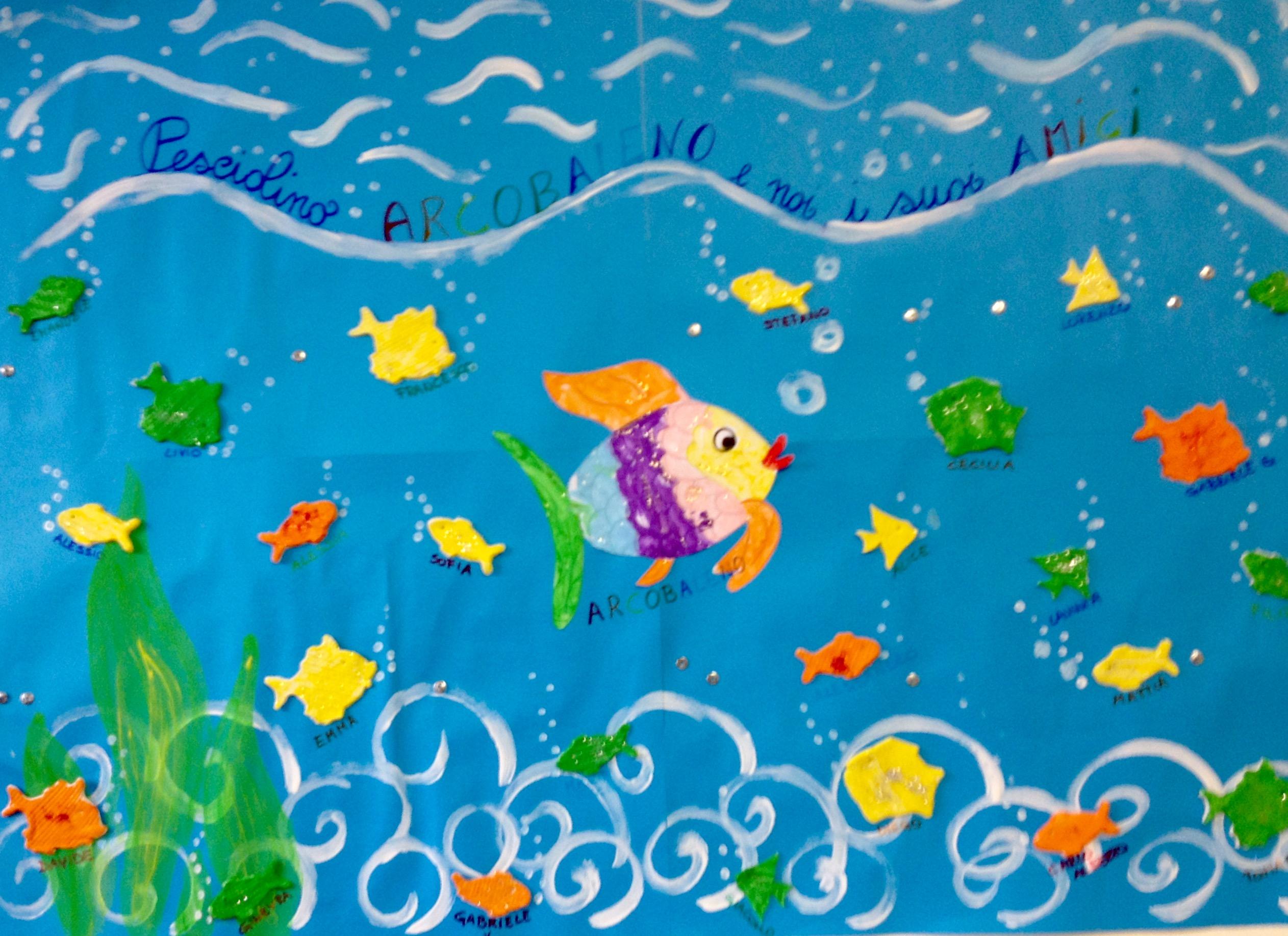 Giornalino miniscoop il pesciolino arcobaleno for Disegni pesciolino arcobaleno