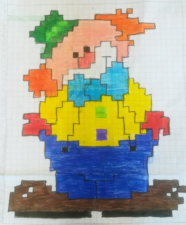 Giornalino Miniscoop Pixel Art Di Carnevale
